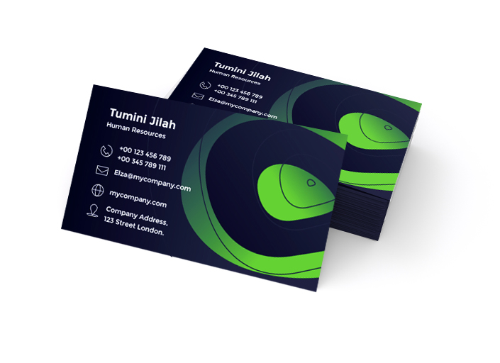 Business Cards Glossy One-Sided