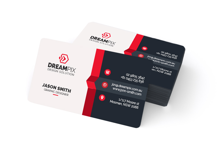 Business Cards Round Corners One-Sided
