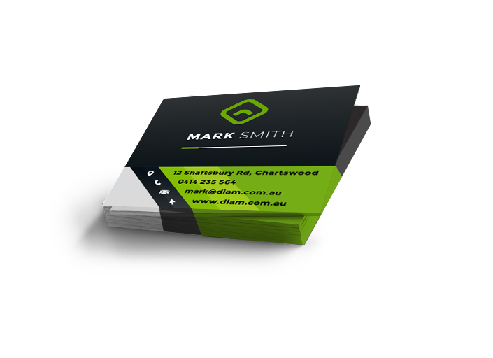 Business Cards – Square One-Sided